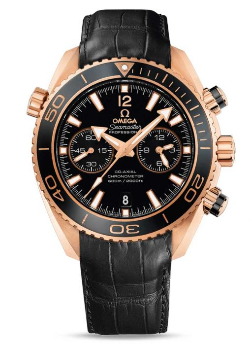 Omega Seamaster Planet Ocean Co-Axial Chronograph 18K Red Gold Men's Watch, 232.63.46.51.01.001