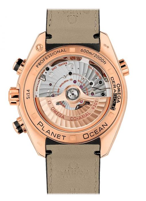 Omega Seamaster Planet Ocean Co-Axial Chronograph 18K Red Gold Men's Watch, 232.63.46.51.01.001 2
