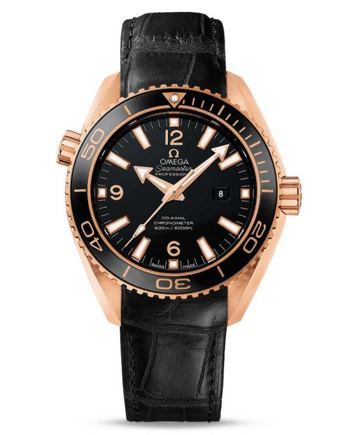 Omega Seamaster Planet Ocean Co-Axial 18K Red Gold Men's Watch, 232.63.38.20.01.001