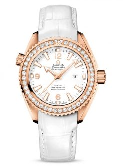Omega Seamaster Planet Ocean Co-Axial 18K Red Gold & Diamonds Ladies Watch 232.58.38.20.04.001