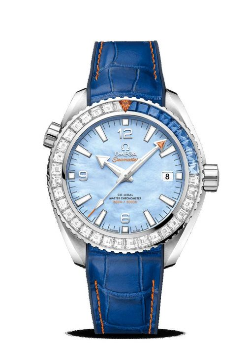 Omega Seamaster Planet Ocean 600M Co-Axial Master Limited Edition 18K White Gold & Diamonds & Sapphires Men's Watch, 215.58.44.21.07.001