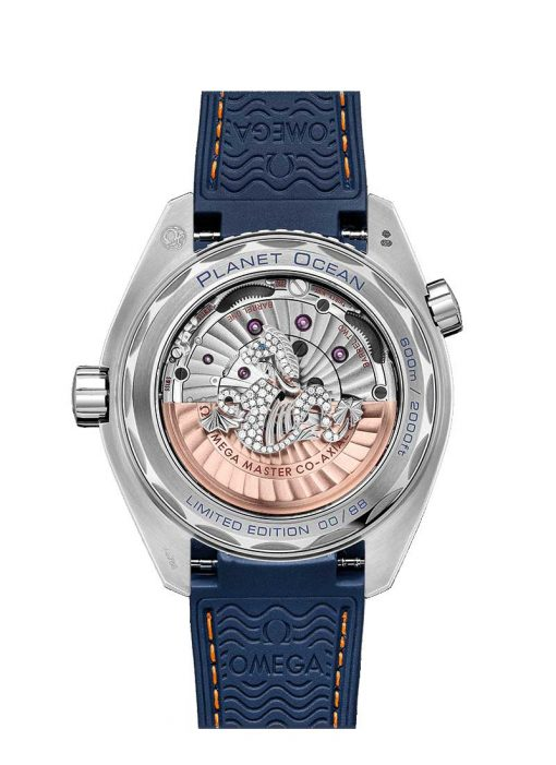 Omega Seamaster Planet Ocean 600M Co-Axial Master Limited Edition 18K White Gold & Diamonds & Sapphires Men's Watch, 215.58.44.21.07.001 3