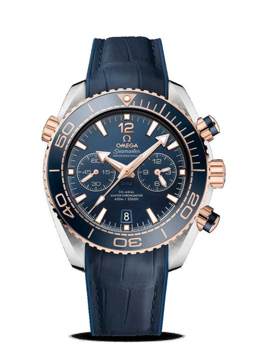 Omega Seamaster Planet Ocean 600M Co-Axial Master 18K Sedna™ Gold & Stainless Steel Men's Watch, 215.23.46.51.03.001