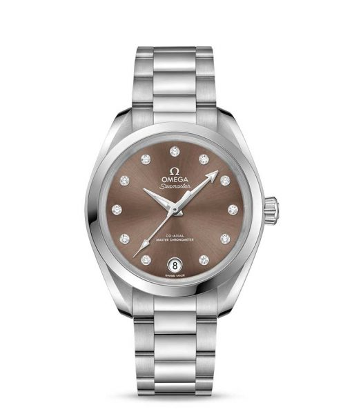 Omega Seamaster Aqua Terra Co-Axial Master Stainless Steel & Diamonds Ladies Watch, 220.10.34.20.63.001