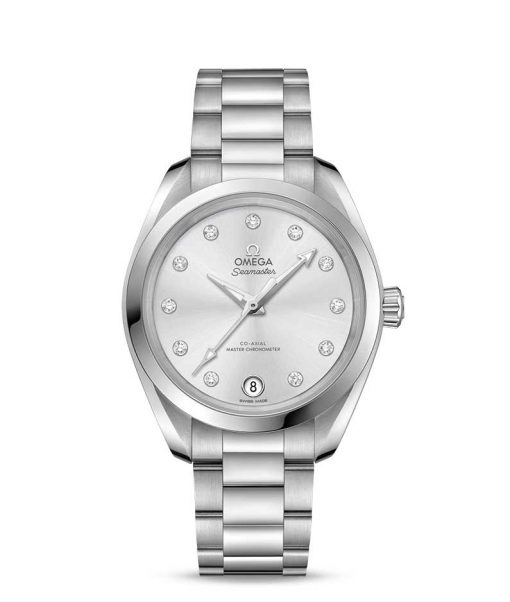 Omega Seamaster Aqua Terra Co-Axial Master Stainless Steel & Diamonds Ladies Watch, 220.10.34.20.60.001
