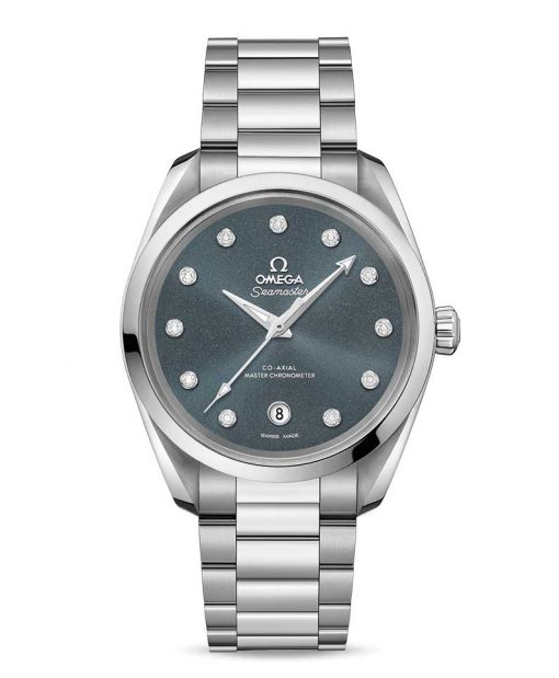 Omega Seamaster Aqua Terra Co-Axial Master Stainless Steel & Diamonds Ladies Watch, 220.10.38.20.53.001