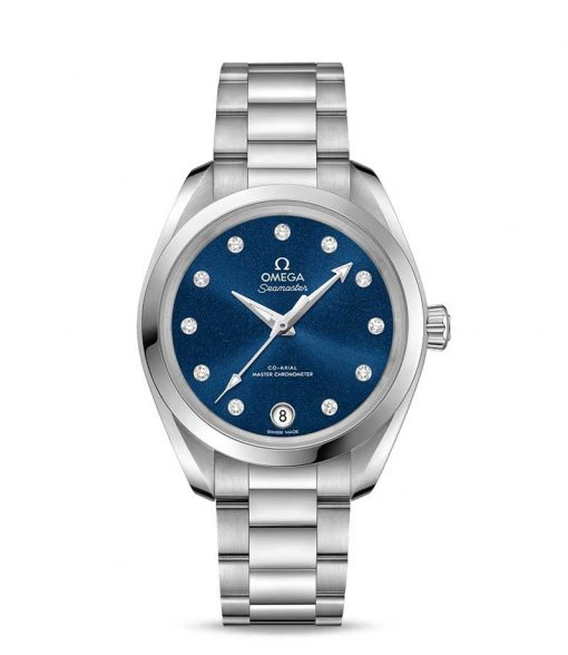 Omega Seamaster Aqua Terra Co-Axial Master Stainless Steel & Diamonds Ladies Watch, 220.10.34.20.53.001