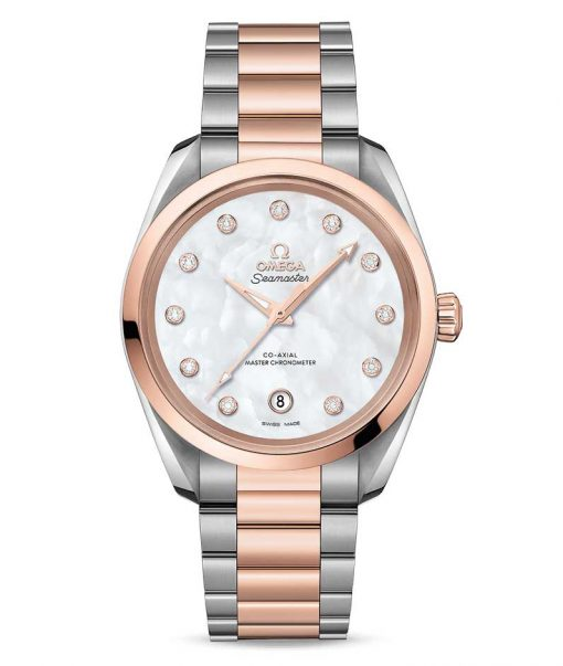 Omega Seamaster Aqua Terra Co-Axial Master Stainless Steel & 18K Sedna™ Gold & Diamonds Ladies Watch, 220.20.38.20.55.001