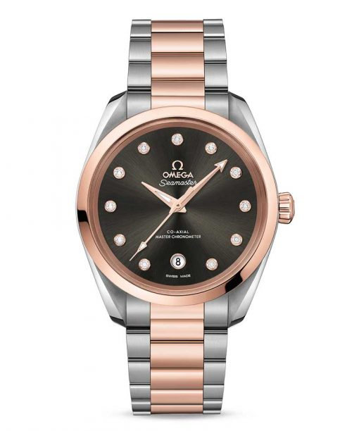 Omega Seamaster Aqua Terra Co-Axial Master Stainless Steel & 18K Sedna™ Gold & Diamonds Ladies Watch, 220.20.38.20.56.001