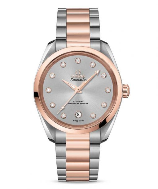 Omega Seamaster Aqua Terra Co-Axial Master Stainless Steel & 18K Sedna™ Gold & Diamonds Ladies Watch, 220.20.38.20.56.002
