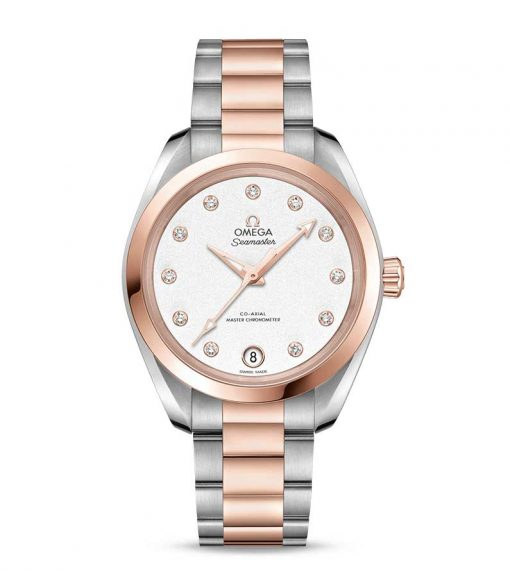 Omega Seamaster Aqua Terra Co-Axial Master Stainless Steel & 18K Sedna™ Gold & Diamonds Ladies Watch, 220.20.34.20.52.001
