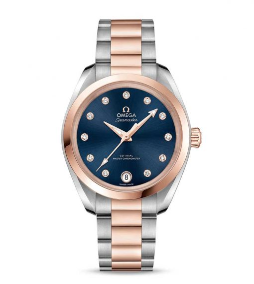 Omega Seamaster Aqua Terra Co-Axial Master Stainless Steel & 18K Sedna™ Gold & Diamonds Ladies Watch, 220.20.34.20.53.001