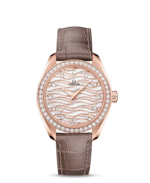 Omega Seamaster Aqua Terra Co-Axial Master 18K Sedna™ Gold & Diamonds Ladies Watch, 220.58.34.20.99.006