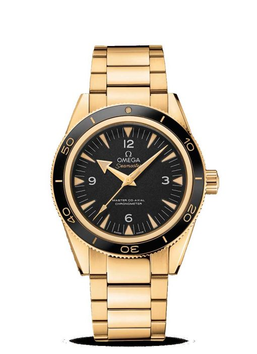 Omega Seamaster 300 Co-Axial Master 18K Yellow Gold Men's Watch, 233.60.41.21.01.002