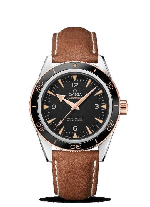 Omega Seamaster 300 Co-Axial Master 18K Sedna™ Gold & Stainless Steel Men's Watch, 233.22.41.21.01.002
