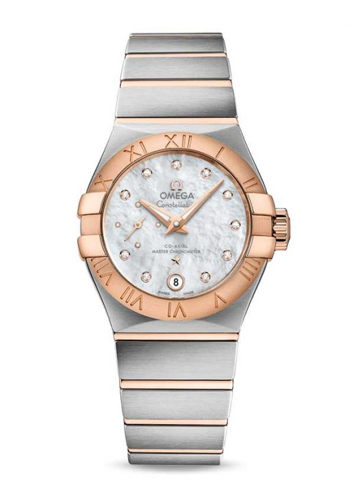 Omega Constellation Petite Seconde Co-Axial Master Stainless Steel & 18K Red Gold Ladies Watch, 127.20.27.20.55.001