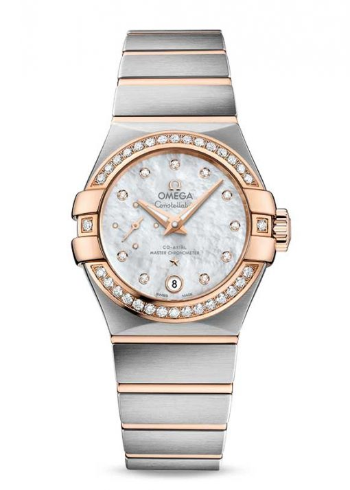 Omega Constellation Petite Seconde Co-Axial Master Stainless Steel & 18K Red Gold Ladies Watch, 127.25.27.20.55.001