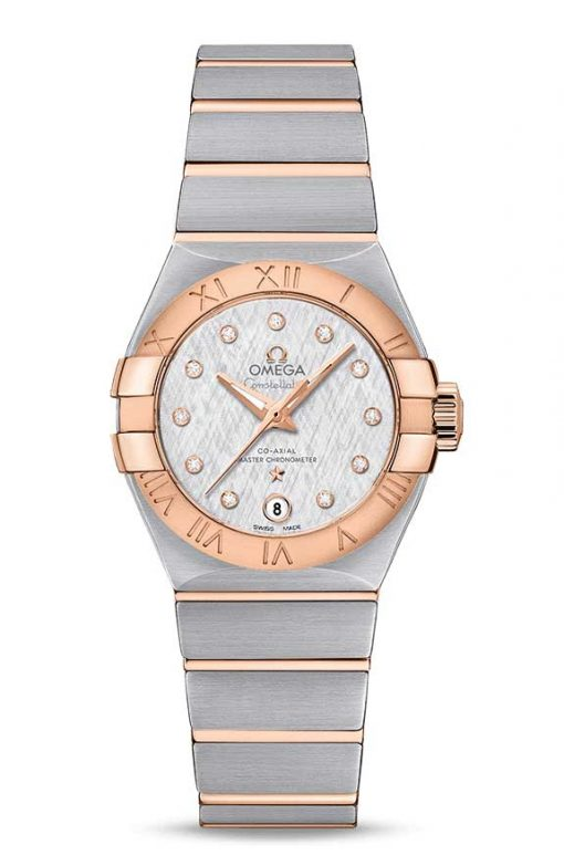 Omega Constellation Co-Axial Master Stainless Steel & 18K Red Gold Ladies Watch, 127.20.27.20.52.001
