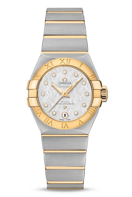 Omega Constellation Co-Axial Master Stainless Steel & 18K Yellow Gold Ladies Watch, 127.20.27.20.52.002