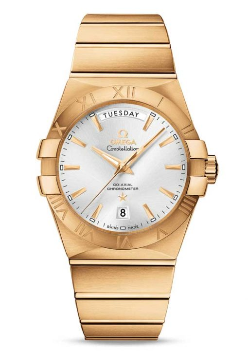 Omega Constellation Co-Axial Day-Date 18K Yellow Gold Men's Watch, 123.50.38.22.02.002