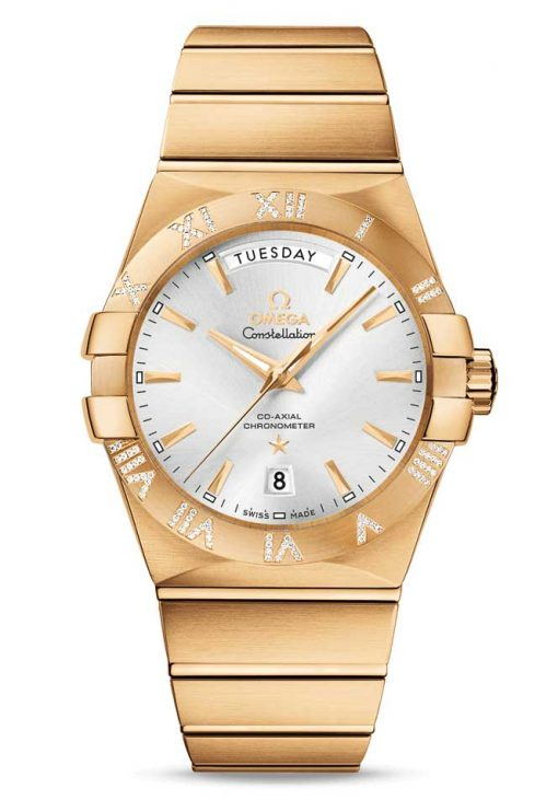 Omega Constellation Co-Axial Day-Date 18K Yellow Gold & Diamonds Men's Watch, 123.55.38.22.02.002