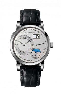 A. Lange and Sohne Lange 1 Moon Phase Platinum Men`s Watch 192.025