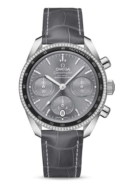 Omega Speedmaster Co-Axial Stainless Steel & Diamonds Unisex Watch, 324.38.38.50.06.001