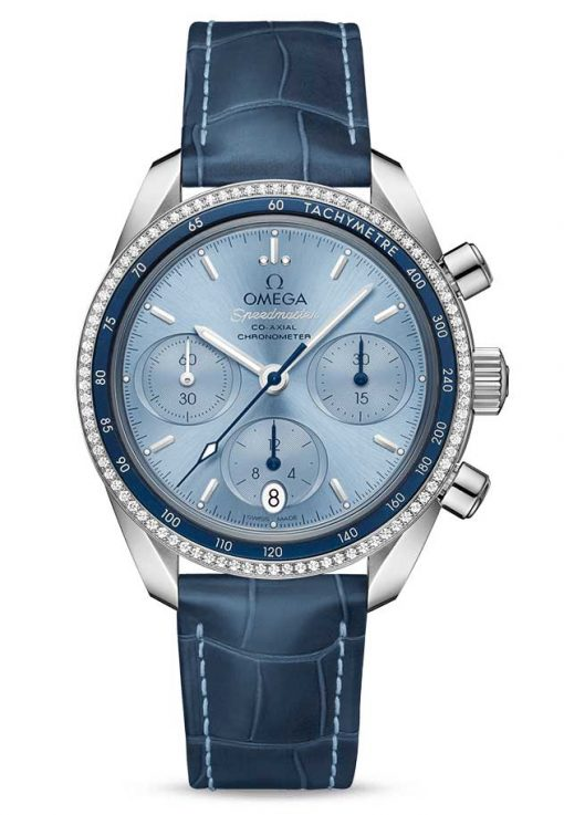 Omega Speedmaster Co-Axial Stainless Steel & Diamonds Unisex Watch, 324.38.38.50.03.001