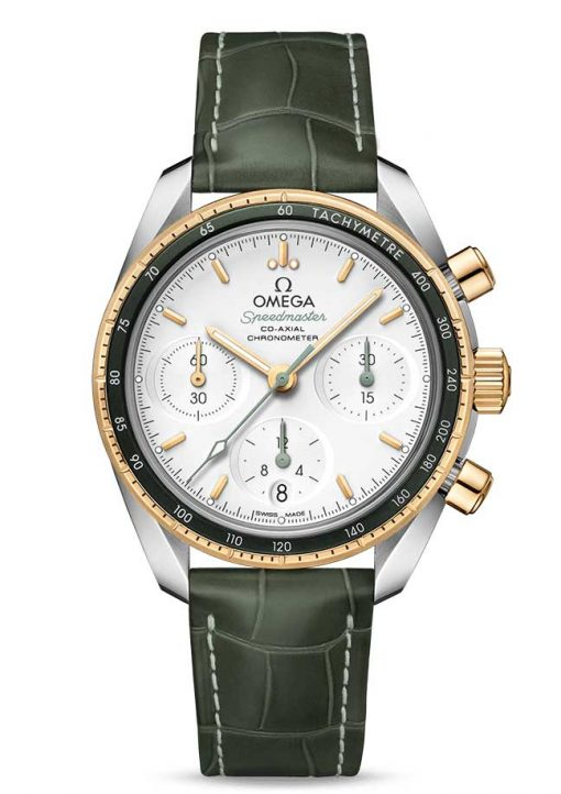 Omega Speedmaster Co-Axial Stainless Steel & 18K Yellow Gold Unisex Watch, 324.23.38.50.02.001