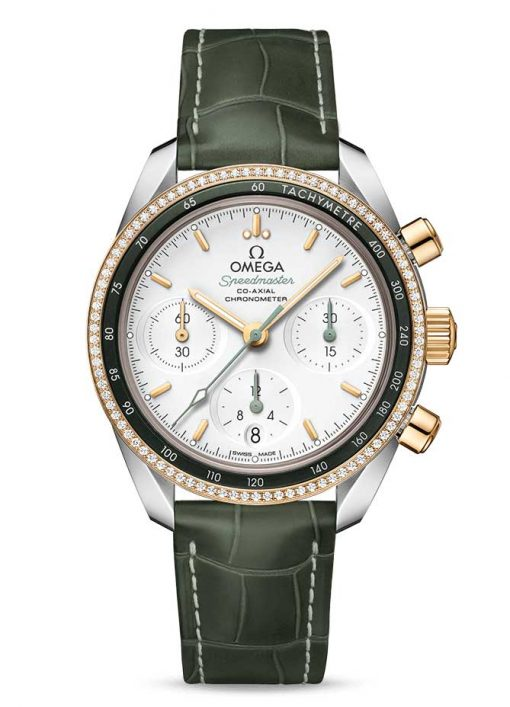 Omega Speedmaster Co-Axial Stainless Steel & 18K Yellow Gold & Diamonds Unisex Watch, 324.28.38.50.02.001