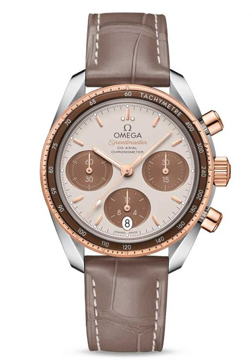 Omega Speedmaster Co-Axial Stainless Steel & 18K Sedna™ Gold Unisex Watch, 324.23.38.50.02.002