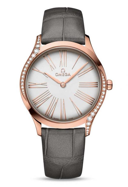 Omega De Vile Tresor 18K Sedna™ Gold & Diamonds Ladies Watch, 428.58.36.60.02.001