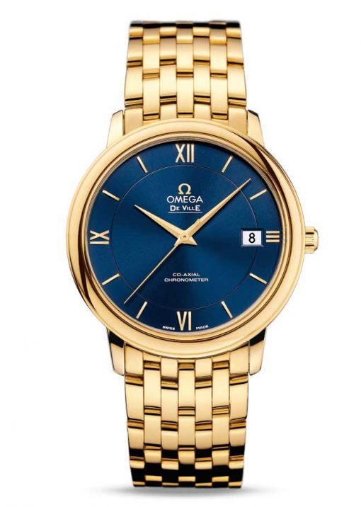 Omega De Vile Prestige Co-Axial 18K Yellow Gold Men's Watch, 424.50.37.20.03.001 2