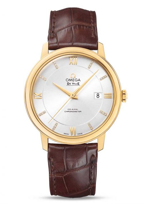 Omega De Vile Prestige Co-Axial 18K Yellow Gold Men's Watch, 424.53.40.20.52.001 2