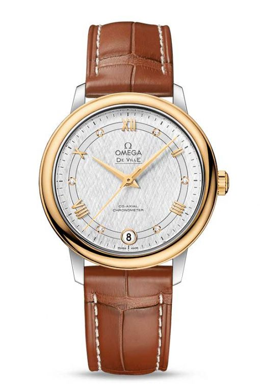 Omega De Vile Prestige Co-Axial 18K Yellow Gold & Stainless Steel Ladies Watch, 424.23.33.20.52.001