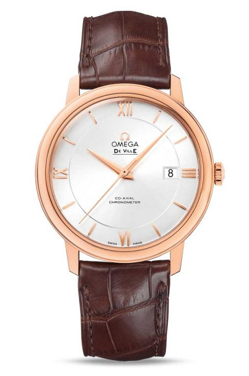 Omega De Vile Prestige Co-Axial 18K Red Gold Men's Watch, 424.53.40.20.02.001