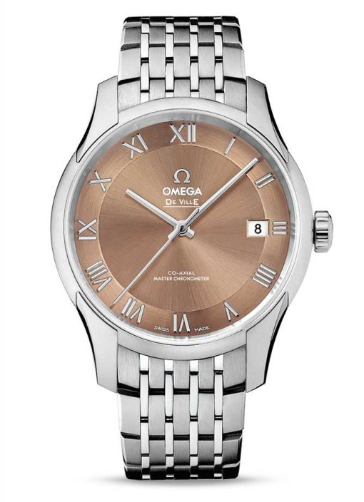 Omega De Vile Hour Vision Co-Axial Master Stainless Steel Unisex Watch, 433.10.41.21.10.001