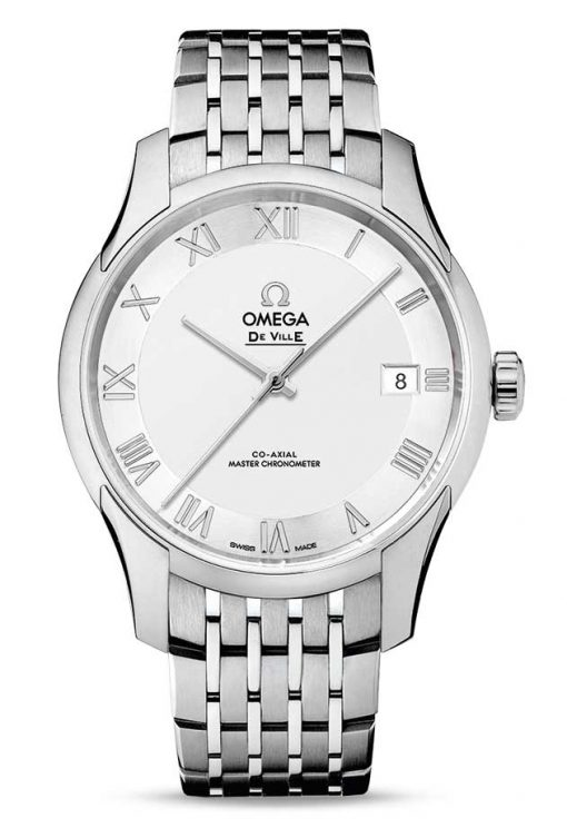 Omega De Vile Hour Vision Co-Axial Master Stainless Steel Unisex Watch, 433.10.41.21.02.001