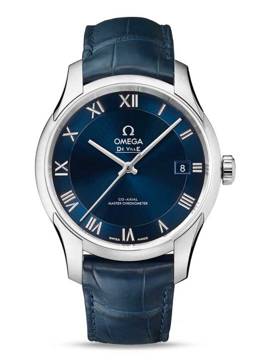 Omega De Vile Hour Vision Co-Axial Master Stainless Steel Men's Watch, 433.13.41.21.03.001