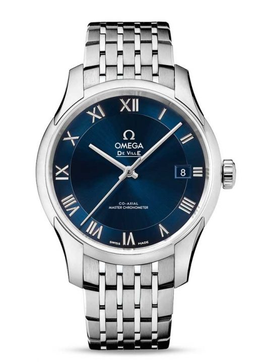 Omega De Vile Hour Vision Co-Axial Master Stainless Steel Men's Watch, 433.10.41.21.03.001