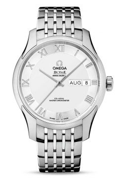Omega De Vile Hour Vision Co-Axial Master Annual Calendar Stainless Steel Unisex Watch 433.10.41.22.02.001