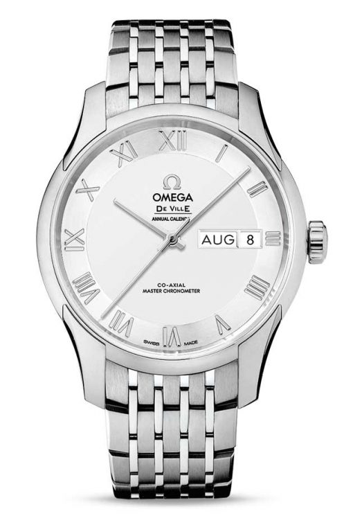 Omega De Vile Hour Vision Co-Axial Master Annual Calendar Stainless Steel Unisex Watch, 433.10.41.22.02.001