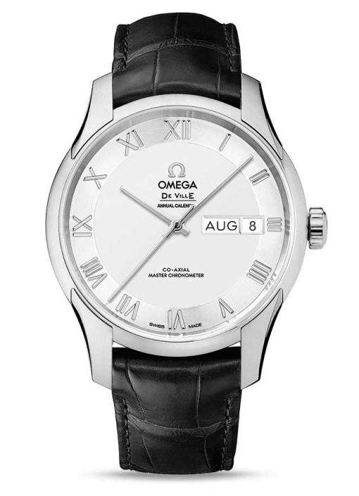 Omega De Vile Hour Vision Co-Axial Master Annual Calendar Stainless Steel Unisex Watch, 433.13.41.22.02.001