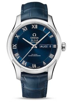 Omega De Vile Hour Vision Co-Axial Master Annual Calendar Stainless Steel Unisex Watch 433.13.41.22.03.001
