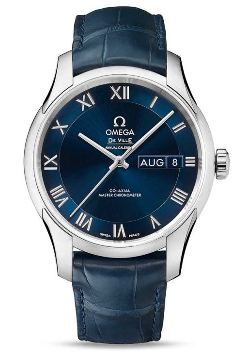 Omega De Vile Hour Vision Co-Axial Master Annual Calendar Stainless Steel Unisex Watch, 433.13.41.22.03.001