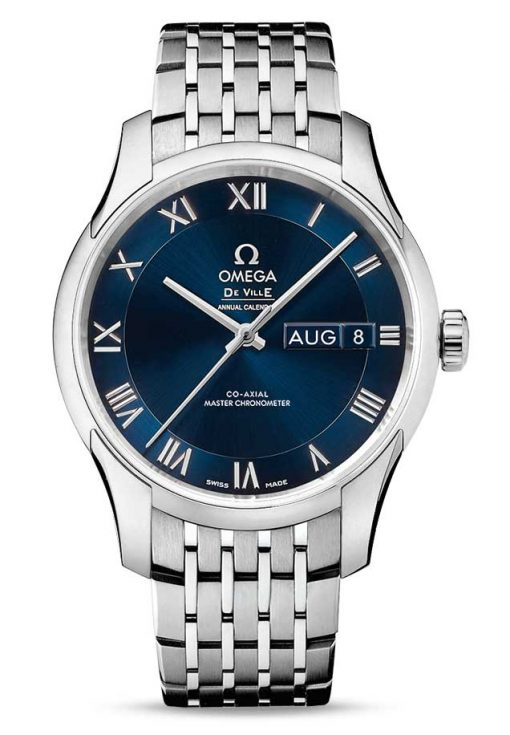 Omega De Vile Hour Vision Co-Axial Master Annual Calendar Stainless Steel Unisex Watch, 433.10.41.22.03.001