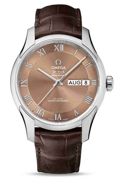 Omega De Vile Hour Vision Co-Axial Master Annual Calendar Stainless Steel Unisex Watch, 433.13.41.22.10.001