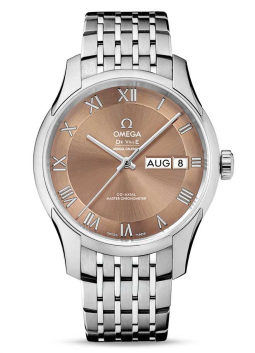 Omega De Vile Hour Vision Co-Axial Master Annual Calendar Stainless Steel Unisex Watch, 433.10.41.22.10.001