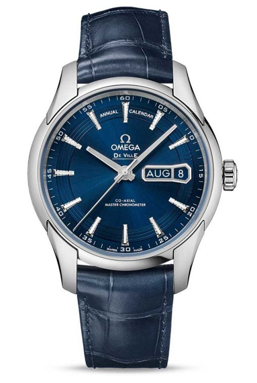 Omega De Vile Hour Vision Co-Axial Master Annual Calendar Stainless Steel Men's Watch, 433.33.41.22.03.001