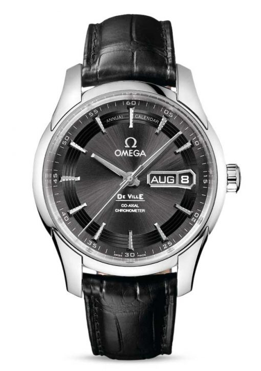 Omega De Vile Hour Vision Co-Axial Master Annual Calendar Stainless Steel Men's Watch, 431.33.41.22.06.001
